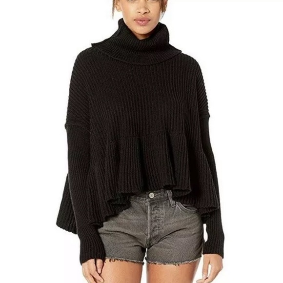 NWT Free People camel pullover sweater sweatshirt jumper S